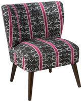 Skyline Furniture Curved Sprint Stripe Armless Chair