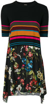 I'M Isola Marras stripe-floral contrast dress