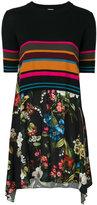 I'M Isola Marras stripe-floral contrast dress
