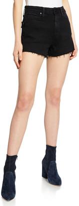 Paige Margot High-Waist Denim Cutoff Shorts, Vintage Black