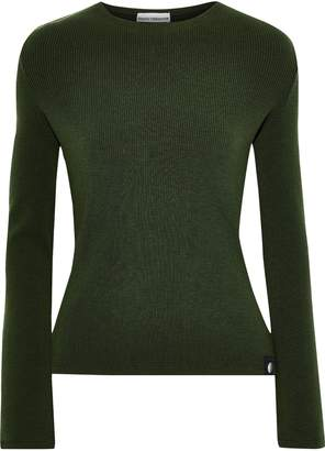 Paco Rabanne Layered Ribbed Wool-blend Sweater