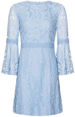 Adrianna Papell Bell Sleeve Lace A-Line Dress