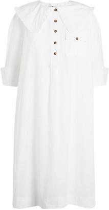 Ganni Oversized Collar Smock Dress