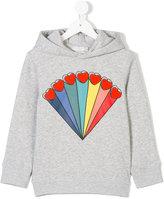 Stella McCartney Heather hoodie - kids - Cotton/Spandex/Elastane - 4 yrs