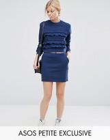 Asos Sweat Mini Skirt with Lurex Trim Co-ord