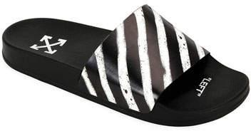 0a56e82d855cf Men's Spray-Stripe Pool Slide Sandals