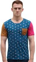 uxcell Allegra K Men Color Block Paisleys Novelty Print T-Shirt