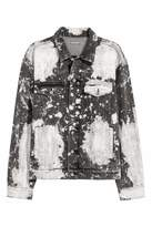 H&M Bleached Denim Jacket