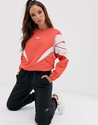Reebok Vector crew sweatshirt in red