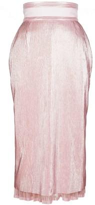 Jiri Kalfar Metalic Dusty Pink Pleaded Pencil Skirt