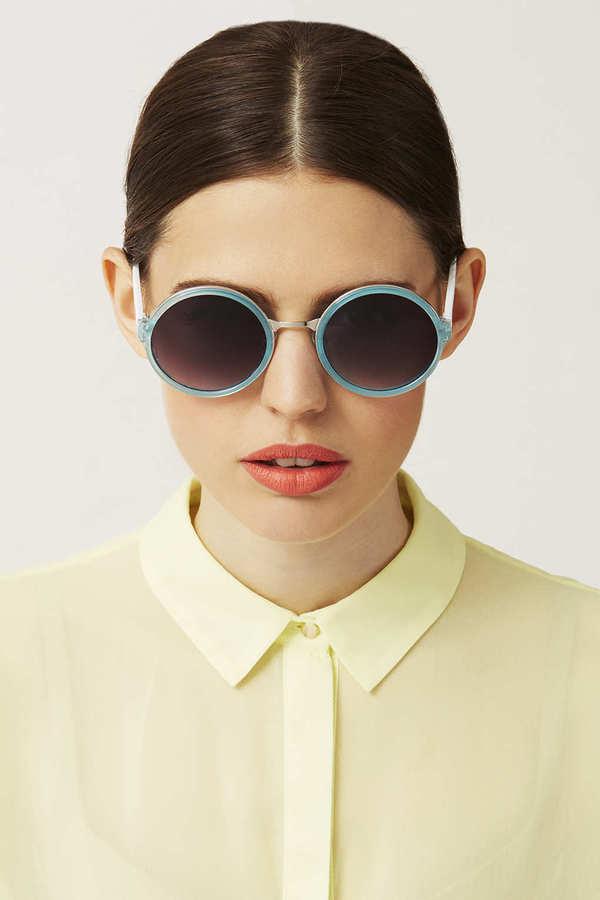 Topshop 90'S Round Sunglasses