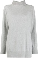 Fabiana Filippi Stud-Embellished Funnel-Neck Jumper