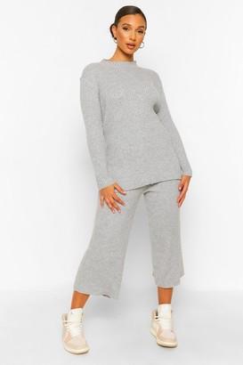boohoo Premium Knitted Rib roll/polo neck Set