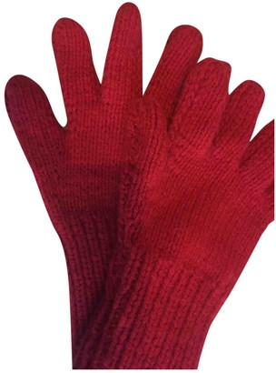 Marni Red Wool Gloves