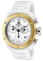 Glam Rock Women's GR50101 Aqua Rock Chronograph White Dial Ceramic Watch