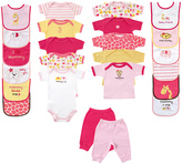 Luvable Friends Pink & Yellow Zoo Animal 24-Piece Layette Set