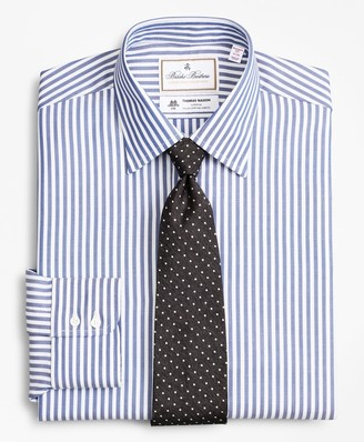 Brooks Brothers Luxury Collection Madison Classic-Fit Dress Shirt, Franklin Spread Collar Bengal Stripe