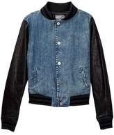 Tractr Chambray Baseball Jacket (Big Girls)