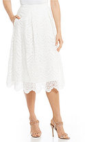 Adrianna Papell Embellished Organza Pleated Skirt