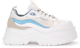 Chiara Ferragni White Leather And Fabric Sneaker