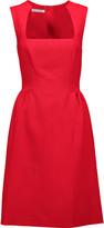 Oscar de la Renta Wool-blend faille dress