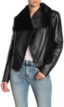 Blanknyc Denim Faux Fur Lined Faux Leather Jacket