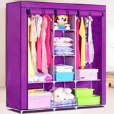 Generic Triple Portable Heavy Duty Clothes Wardrobe Closet Rack Cabinet Armoire Garment