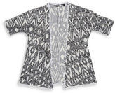 Planet Gold Girls 7-16 Geometric Knit Cardigan