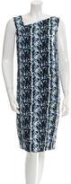 Narciso Rodriguez Silk Printed Dress