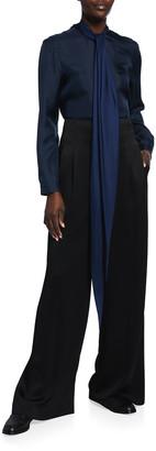 PARTOW Clara Neck-Tie Silk Blouse