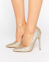 Steve Madden Glitter Pointed Court Shoes