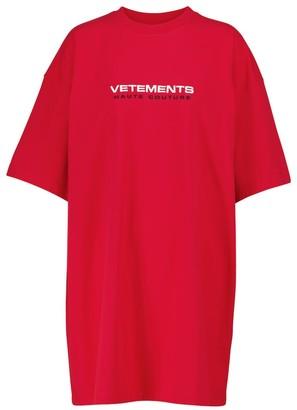 Vetements Logo cotton-jersey T-shirt