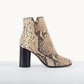 Maje Snakeskin-effect leather boots