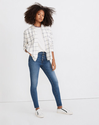"""Madewell Tall 9"""" Mid-Rise Skinny Jeans in Payson Wash: Button-Front Edition"""