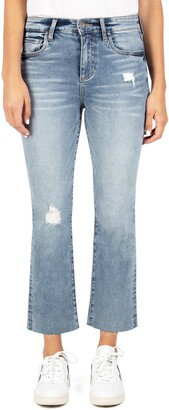 KUT from the Kloth Kelsey Distressed High Waist Kick Flare Jeans