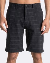 "Quiksilver Mens Union Plaid Amphibian 21"" Walk Short"