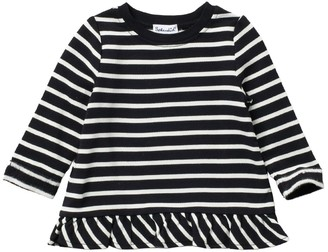 Splendid Striped Long Sleeve Ruffled T-Shirt (Baby Girls)