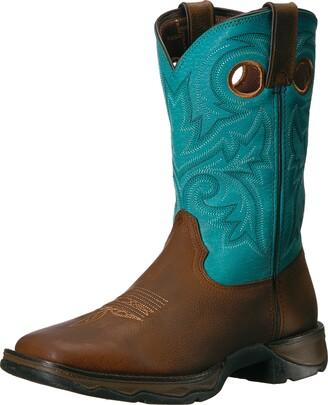Durango Women's DWRD016 Western Boot Brown/Turquoise 6 M US