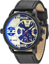 Police Men's PL14833JSB04 TAIPAN Casual Silver Dial Watch