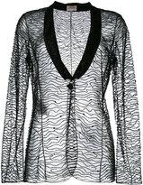 Armani Collezioni embellished blazer - women - Polyamide/Polyester/plastic/glass - 40