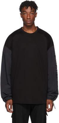 Juun.J Black Technical Long Sleeve T-Shirt