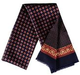 Black Sassari - Navy and Claret Silk Dress Scarf