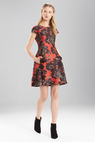 Josie Natori Flower Jacquard Dress
