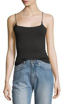 Alexander Wang Luxe Ponte Scoop-Neck Camisole w/ Chain Straps