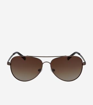 Cole Haan Metal Aviator Sunglasses