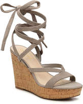 GUESS Women's Treacy Wedge Sandal -Cognac