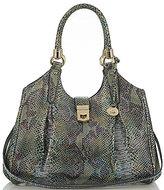 Brahmin Seville Collection Elisa Snake-Embossed Hobo Bag