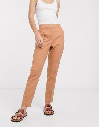 ASOS DESIGN ultimate linen cigarette suit trousers