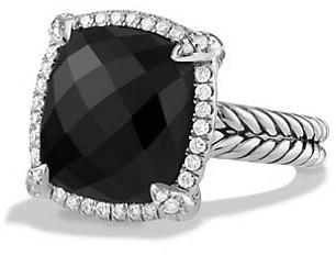 David Yurman Chatelaine Pave Bezel Ring with Gemstone & Diamonds