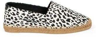 Saint Laurent Signature Animal-Print Canvas Espadrilles